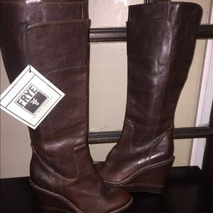 Frye Paige Wedge Boots